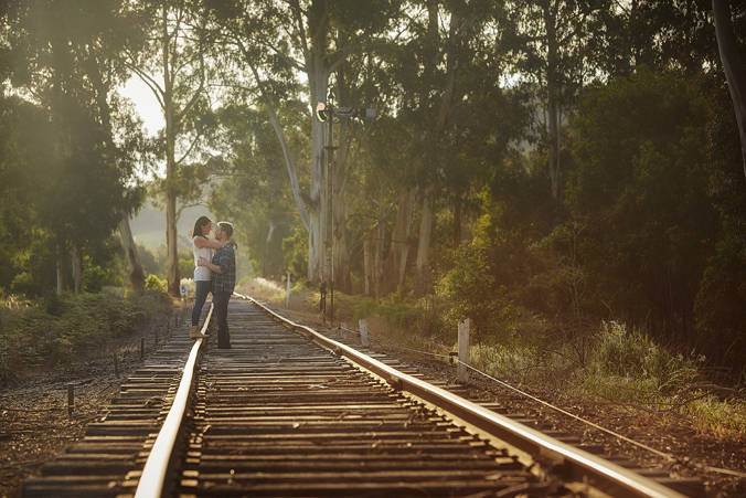 Brooke & Trevor on the Healesville Train lines