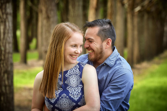 Healesville forest Engagement portraits 3
